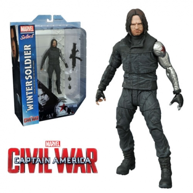 Marvel Select, Winter Soldier Civil War 18 cm