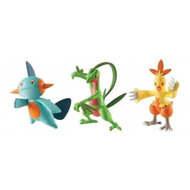 Pokemon, Combusken, Marshtomp & Grovyle, Figurine 6 cm