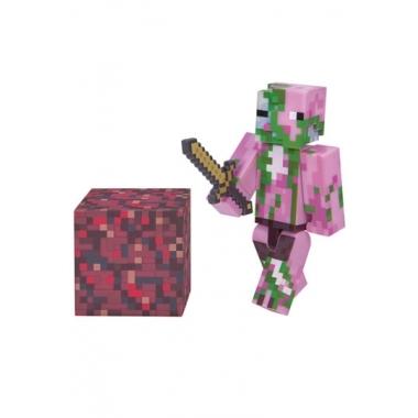Minecraft 2016, Figurina Zombie Pigman 8 cm cu accesorii
